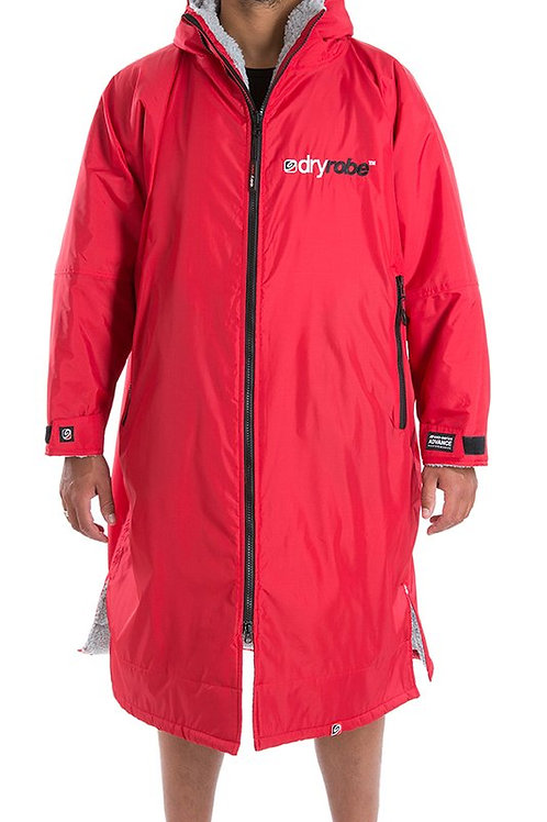 Dryrobe Advance Long Sleeve - Red & Grey
