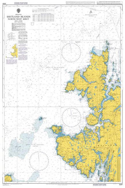 Admiralty Chart No. 3281 - Shetland Islands North-West Sheet