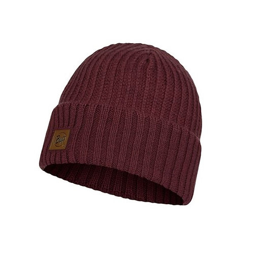 Buff Knitted Hat - Rutger Maroon