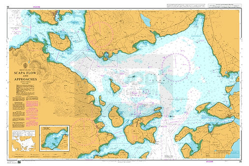 Admiralty Chart No. 35 - Scapa Flow and Approaches