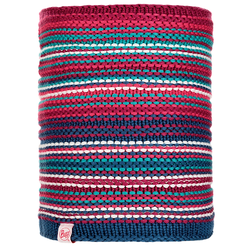 Buff Jnr Knitted Neckwarmer - Amity Pink Cerisse/Grey Vigore