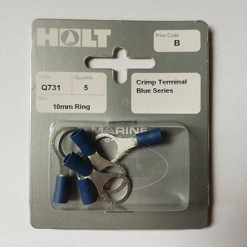 Holt 5 Pack Crimp Terminal Blue Series 10mm RingR