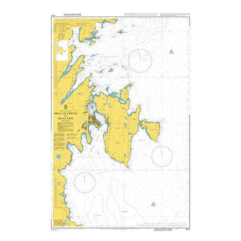 Admiralty Chart No. 3272 - Moul of Eswick to Helli Ness