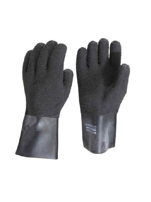 KUBI Black Textured Heavyweight Latex Gloves