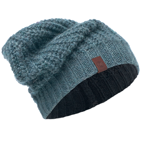 Buff Knitted Hat - Gribling Steel Blue Blend