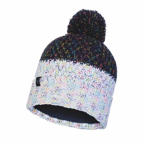 Buff Knitted Hat - Janna Night Blue