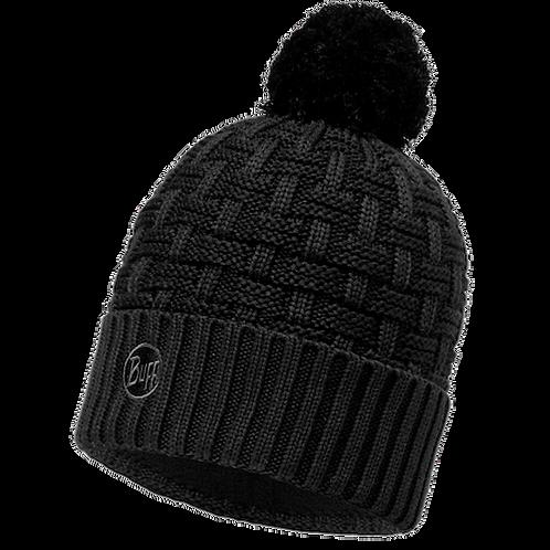 Buff Knitted Hat - Airon Black Melange Hat