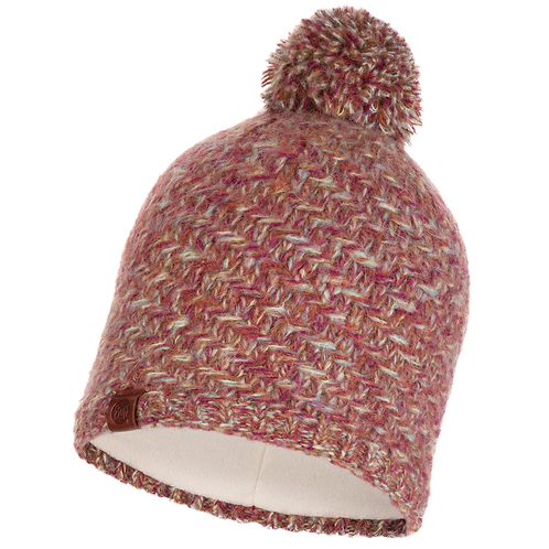 Buff Knitted Hat - Agna Multi