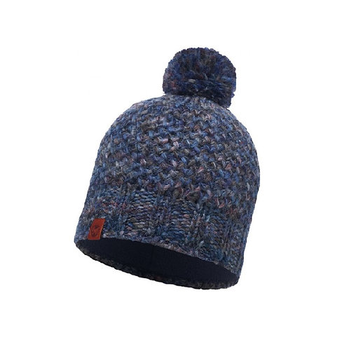 Buff Knitted Hat - Margo Blue