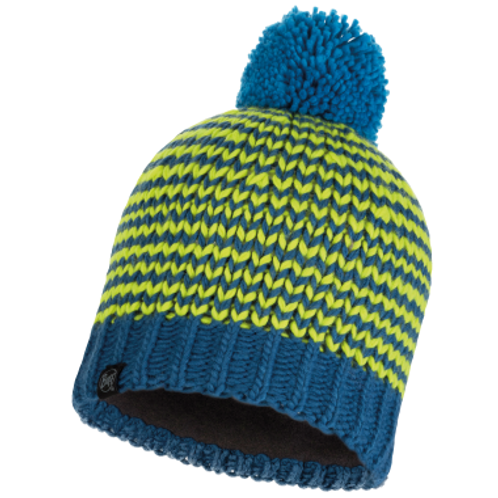Buff Knitted Hat - Dorn Moroccan Blue