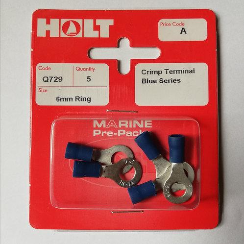 Holt 5 Pack Crimp Terminal Blue Series