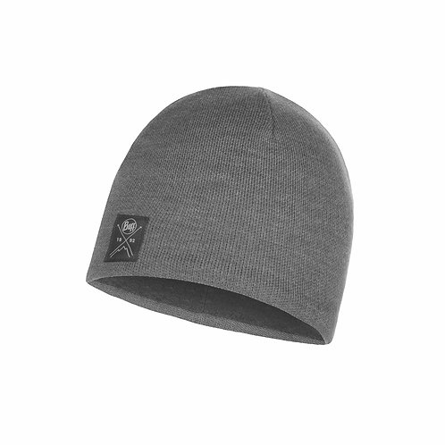 Buff Knitted Hat - Solid Grey