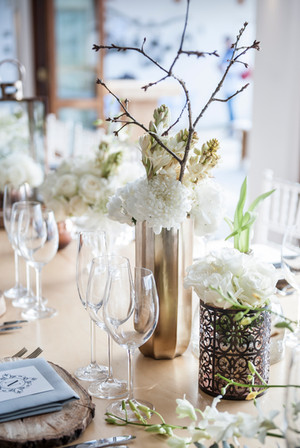 Subtle but elegant table decor