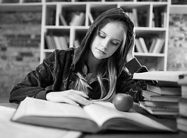 A girl studying.jpg