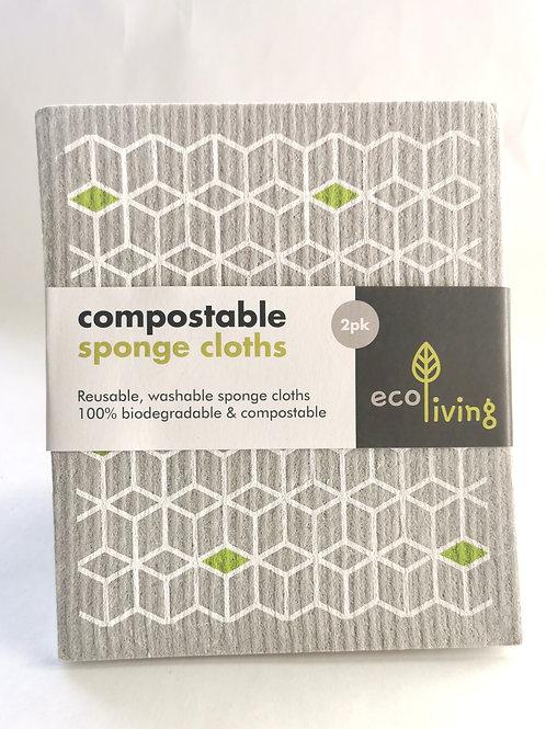 Compostable Sponge Cloths (2 pack)
