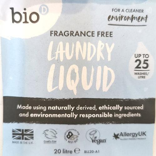 Bio D Laundry Liquid (Fragrance Free)
