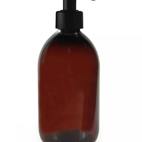500ml Glass Pump Bottle - Amber