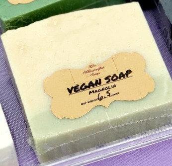Vegan Soap:  Magnolia