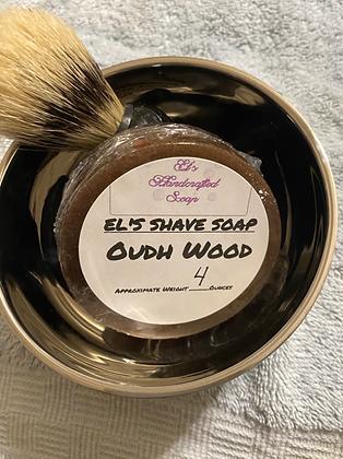 Shave Soap:  Oudh Wood