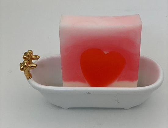 Goat Milk Soap:  Love Spell Glycerin