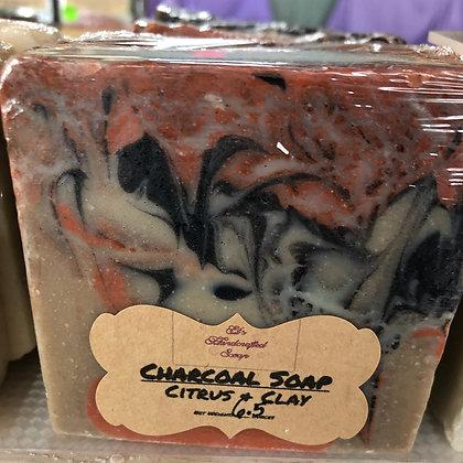 Charcoal Soap:  Citrus & Clay