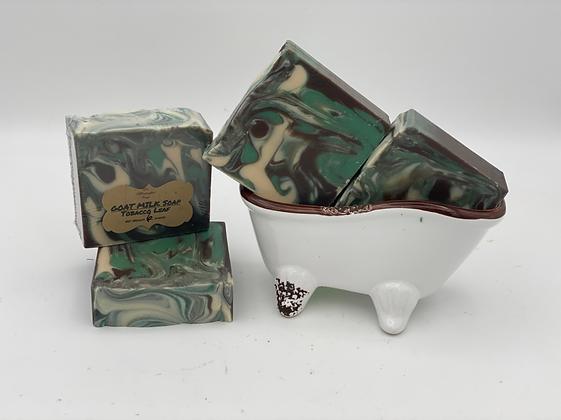 Goat Milk Soap:  Tobacco Leaf