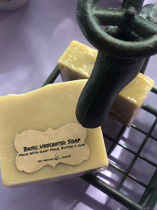 Goat Milk Soap:  Unscented