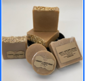 Round Goats & Oats Soap:  Unscented