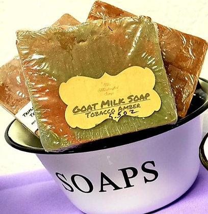 Goat Milk Soap:  Tobacco Amber