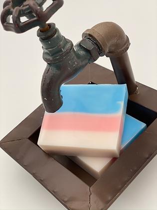 Goat Milk Soap:  Bubble Gum -- glycerin