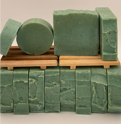 Yogurt Soap:  Green Cucumber Round  Face Soap