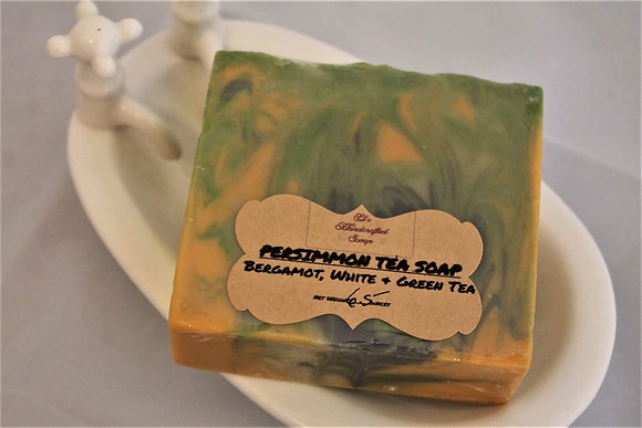 Persimmon Tea Soap:  Bergamot, White & Green Tea