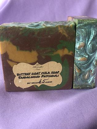 Patchouli Sandalwood Soap: Goat Milk
