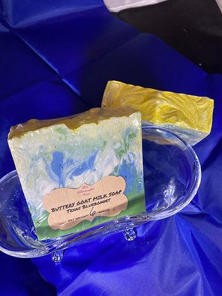 Goat Milk Soap:  Texas Bluebonnet
