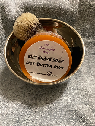 Shave Soap:  Hot Butter Rum