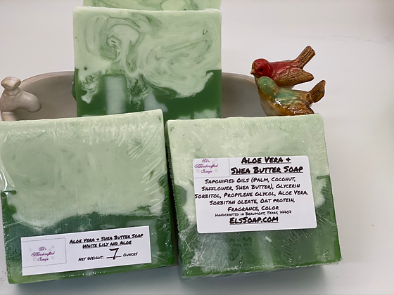 Aloe & Butter Soap: White Lily Glycerin