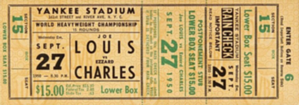 Joe Louis vs Ezzard Charles ticket