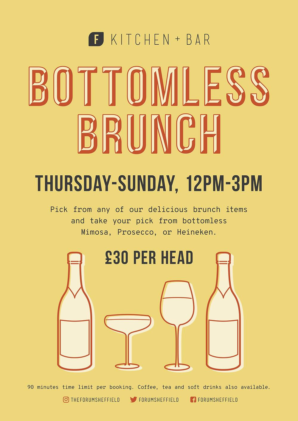 Bottomless Brunch at Forum Sheffield