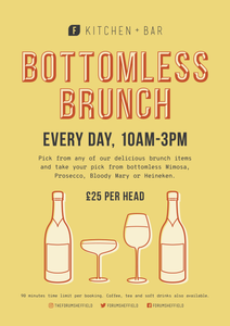 Poster of Bottomless Brunch offer at Forum Kitchen + Bar