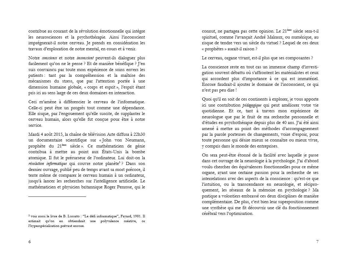 introduction de la révélation cérébrale pages 6 et 7