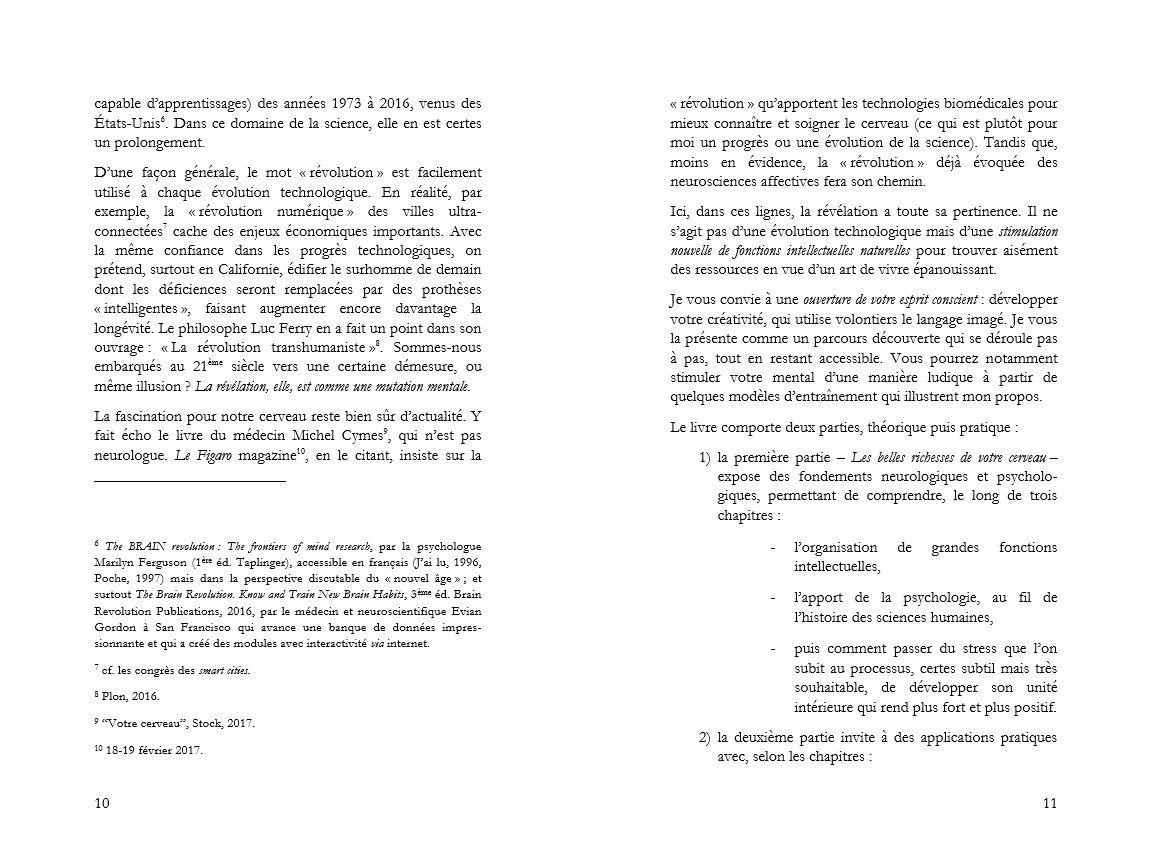 introduction de la révélation cérébrale page 10 et 11
