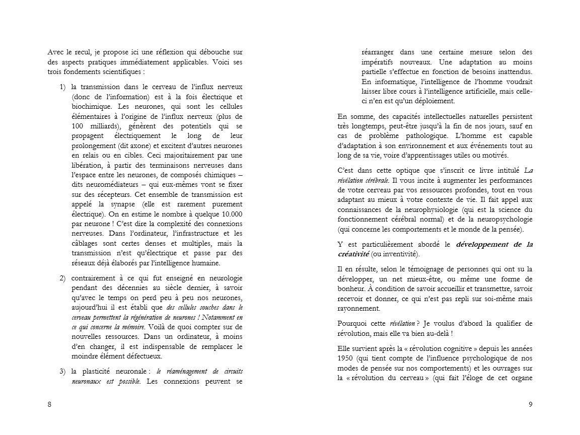 introduction de la révélation cérébrale pages 8 et 9