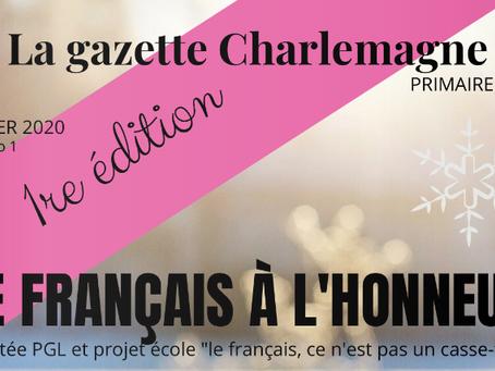 LA GAZETTE CHARLEMAGNE – JANVIER 2020