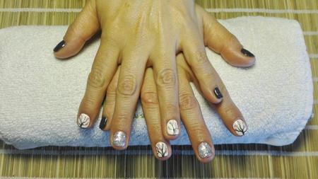 Manicure permanente con diseño