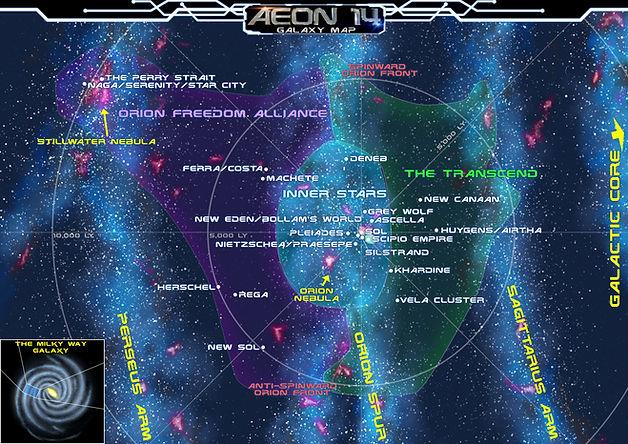 Galactic Map - Local Orion, Perseus, and Sagittarius Arms