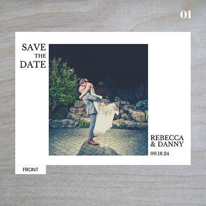 """""""Poised"""" Horizontal - Standard Save-The-Date Post Cards"""