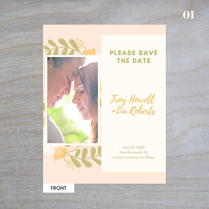 """""""Adora"""" Vertical - Standard Save-The-Date Post Cards"""