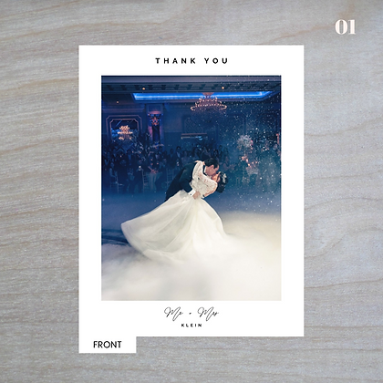 """Poised"" Vertical Standard Thank You Cards"