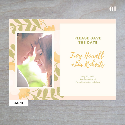 """Adora"" Horizontal - Standard Save-The-Date Post Cards"
