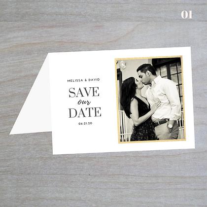 Bi-Fold Horizontal Save-The-Date Cards